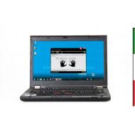 NOTEBOOK USATO LENOVO THINKPAD T430  PRIMA SCELTA GRADE A   14\'\' HD - INTEL I5-3320M - RAM 8GB - SSD180GB -  WINDOWS  10 PROF