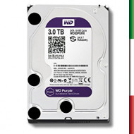 HARD DISK SATA3 3.5 3TB WD30PURZ WD 64MB CACHE INTELLIPOWER PURPLE VIDEOSORVEGLIANZA