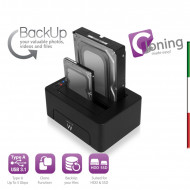 BASE USB 2*HDD SATA 2.5/3.5 USB3.0 CLONIG Software Back-UpEW7014