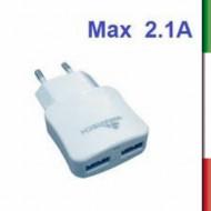 ADATTATORE  PRESA 220V. A 2 USB 5V/2A