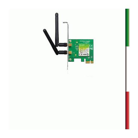 ADATTATORE PCI-E WIRELESS TP-LINK TL-WN881ND 2 ANTENNE STACC.