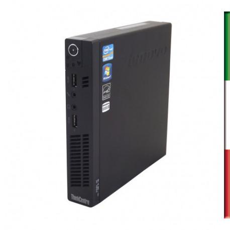 PC LENOVO SLIM M72P USATO  PRIMA SCELTA GRADE A  - INTEL I5-3470T  - RAM 4GB-  HDD 320GB 7,2G - WINDOWS 10 PROFESSIONAL - SVGA I