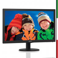 "MONITOR PHILIPS LCD LED 23.6"" WIDE 243V5LHSB/00 1MS 0.272 FULL HD 1920X1080 1000:1 BLACK VGA DVI HDMI VESA"