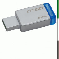 PEN DRIVE USB3.0 64GB KINGSTON DT50/64GB METAL CASE SILVER
