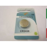 Batteria LITIO CR2430 KONNOC 1pz.Button Cell  3volt