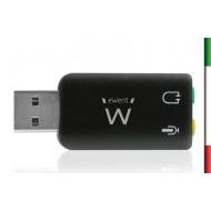 SCHEDA AUDIO USB 5.1 Cuffie+Mic  EW3751