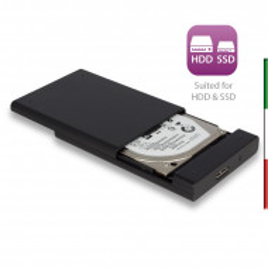 Box per HDD/SSD SATA da 2.5 pollici USB 3.1 ,senza viti