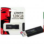 "FLASH DRIVE USB3.0 128GB KINGSTON DT100G3/128GB ""DATATRAVELER"" NERO"