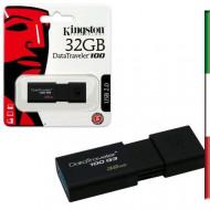 PEN DRIVE 32GByte USB 3.0 KINGSTON G3
