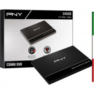HDD 240Gb SSD PNY SATA3SSD7CS900-240-PB, READ 535MB/s WRITE 500MB/s