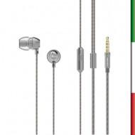 AURICOLARI STEREO+ MICROFONO  WIMINTECH CS-1045  ARGENTO x SMARTPHONE