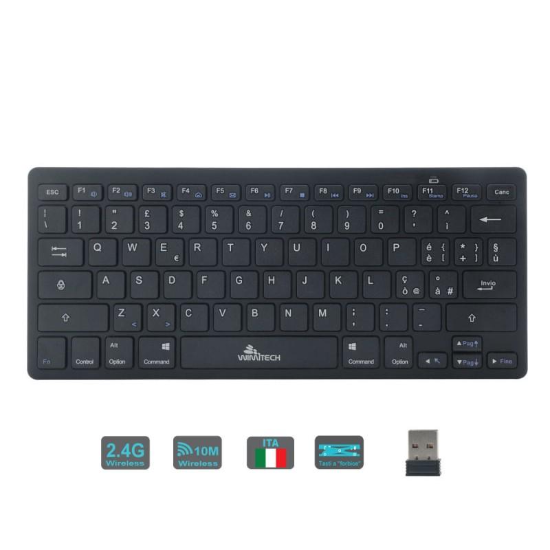 TASTIERA MINI WIFI ULTRASOTTILE WIMITECH TS-1003 USB - Black