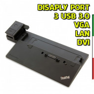 Docking Station Lenovo ThinkPad mod 40A1 (no alim) compatibile con :Lenovo Thinkpad L540, L560, P50s, T550, T560, X240, X250, w