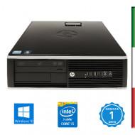 PC HP 8300  -INTEL I5-3470- HD2500 INTEL- 8GB RAM - HD 500GB 7,2G - USB3,0 - DVD - Windows 10 PROFESSIONAL- USATO -12 MESI GARA