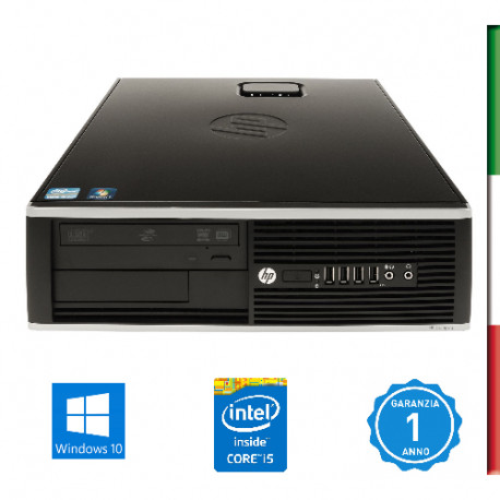 PC HP 8300  -INTEL I5-3470- HD2500 INTEL- 8GB RAM - HD 500GB 7,2G - USB3,0 - DVD - Windows 10 PROFESSIONAL- USATO -12 MESI GARA