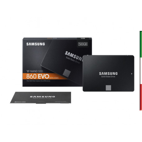 "SSD-SOLID STATE DISK 2.5"" 500GB SATA3 SAMSUNG MZ-76E500B SSD860 EVO READ:550MB/S-WRITE:520MB/S"