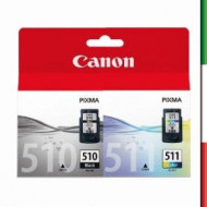 Cartuccia CANON COLOR CL-511+PG510