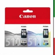 Cartuccia CANON COLOR CL-511+PG510