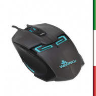 MOUSE OPTICAL MSO-1009 GAMING DPI 3 LIVELLI WIMITECH NERO