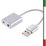 SCHEDA AUDIO ESTERNA USB2.0 CAI-17Plug and play, installazione automatica, non richiede l'alimentazione esterna.USB 2.0 maschio