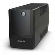 UPS ATLANTIS A03-P701 800VA/400W LINEINTERACTIVE UPS AVR HOTSWAP BATTERY STABILIZ.+FILTRI SW SHUTDOWN PC VIA USB-GARANZIA 2 ANN
