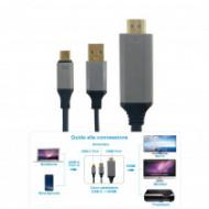 CAI-16 CAVO ADATTATORE USB3.1 C/M-HDMI/M