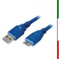 CAVO USB3.0 M/MICRO USB X HDD 3MT BLU