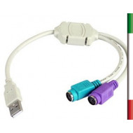 ADATTATORE da Tast e Mouse PS2 to USB
