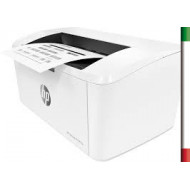 Stampante HP LaserJet Pro M15WWireless, fino a 19 ppm (Nero), Colore: Bianco