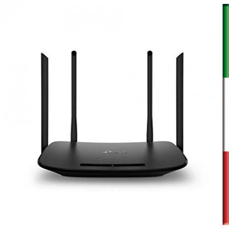 ROUTER TP-Link Archer VR300 Modem Router Wireless, AC1200 Dual Band, Fibra/VDSL/ADSL/ADSL2+, Supporta il parental control e ret