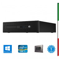 """PC  HP ELITEDESK 800 G1 USATO """" PRIMA SCELTA GRADE A"""" - INTEL  I7-4770 - SVGA INTEL HD4600  - 16GB RAM - SSD 480GB - USB3,0 - W"""