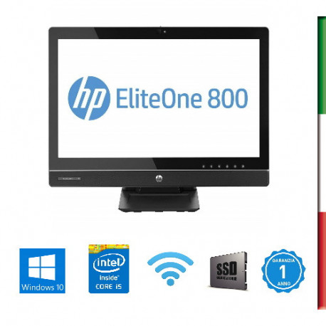 PC  ALL IN ONE HP 800 G1 AIO - DISPLAY 23'' FULL HD  - INTEL  QUAD CORE I5-4570S - HD4600 INTEL - 8GB RAM -  SSD 240GB  - WEBCA