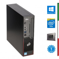 PC FUJITSU C710 USTD RICONDIZIONATO INTEL DUAL CORE G870/G2020T - SVGA INTEL HD - USB 3.0 - 4GB RAM - SSD 120GB - Windows 10 PR