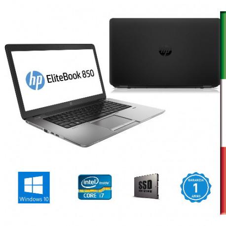"NOTEBOOK USATO HP ELITEBOOK 850 G1 "" PRIMA SCELTA GRADE A  e KIT TASTIERA ITALIANO""  - DISPLAY 15,6  HD - INTEL I7-4600 - RAM 1"