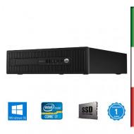 """PC  HP ELITEDESK 800 G1 USATO """" PRIMA SCELTA GRADE A"""" - INTEL  I7-4770 - SVGA INTEL HD4600  - 32GB RAM - SSD 480GB - USB3,0 - W"""