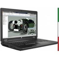 NOTEBOOK  HP ZBOOK 17 G2- DISPLAY 17,3  FULL HD - INTEL I7-4810MQ - RAM 16GB- SSD 250GB M2 SATA - SVGA QUADRO K3100M 4GB - WIND