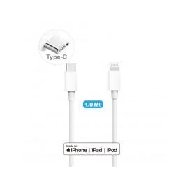 CAVO DA USB-C A LIGHTNING CAQ-107Cavo USB di ricarica e sincronizzazione datiPuò essere abbinato a un alimentatore Apple da 29W