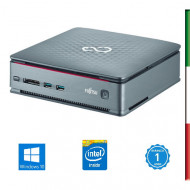 PC FUJITSU Q520 MINI RICONDIZIONATO INTEL DUAL CORE G3220T - SVGA INTEL HD - USB 3,0 -  8GB RAM - SSD 240GB - Windows 10 PROFES