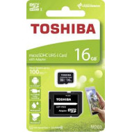 MICRO SECURE DIGITAL 16GB EXCERIA M203-EA CLASS10 R100 + ADATTATORE THN-M203K0160EA TOSHIBA
