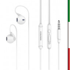 Auricolari stereo CS-1057 con microfono compatibile con Smartphone e TabletDesign in-ear, con tasto one touch per gestire le ch