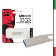 "FLASH DRIVE USB3.0 32GB KINGSTON DTSE9G2/32GB ULTRA SLIM ""DATA TRAVELER"" METAL CASE SILVER"