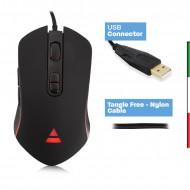 Mouse da gioco con illuminazione RGB/DPI 1200-2400-3200-4800
