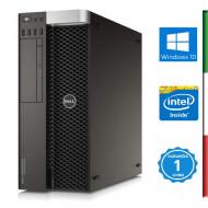 PC DELL T5810- INTEL XEON QUAD CORE E5-1620 V3 - SVGA NVIDIA QUADRO K4200 4GB - 64GB RAM DDR4 - SSD 1TB -  DVD - USB3,0 - Windo