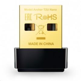 ADATTATORE WIRELESS AC600 DUAL BAND TP-LINK ARCHER T2U NANO USB2.0 150MBPS A 2.4GHZ + 433MBPS A 5GHZ 802.11AC/A/B/G/N