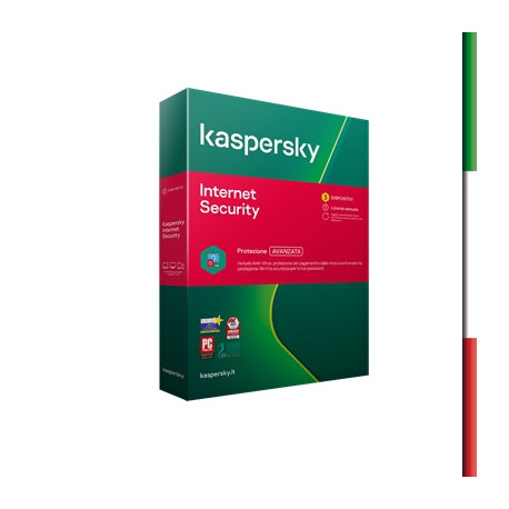 KASPERSKY INTERNET SECURITY 2020 -- 3 DISPOSITIVI (KL1939T5CFS-20SLIM)