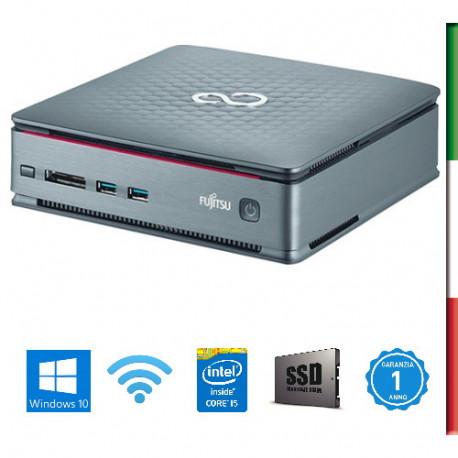 PC FUJITSU Q520 MINI  - INTEL I5-4460T - SVGA INTEL HD4600 - USB 3,0 -  8GB RAM - SSD 480GB - WIFI - Windows 10 PRO- USATO - 12