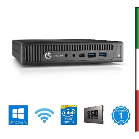 PC HP ELITEDESK 800 G2 MINI - INTEL I5-6400T - SVGA INTEL HD 530 - 8GB RAM DDR4 - SSD 250GB - WIFI - Windows 10 PRO - USATO - 1