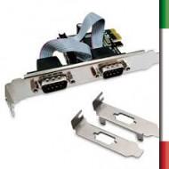 SCHEDA INTERFACCIA PCI-E COMBO LOW PROFILE -2P SERIALI ATLANTIS P007-CPEO2S