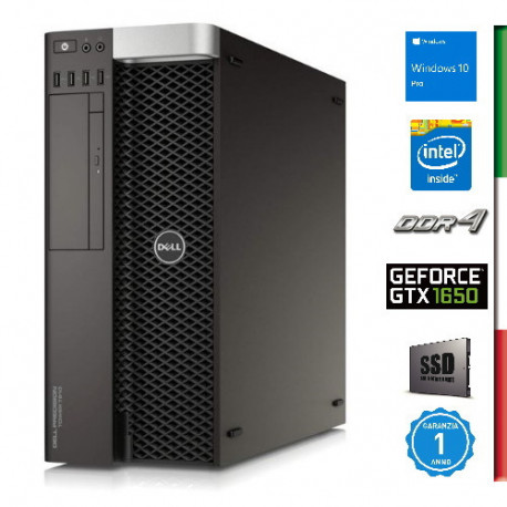 PC DELL T7810 DELL GAMING - INTEL DUAL XEON  E5-2609 V3 - SVGA NVIDIA GTX 1650 4GB - 32GB RAM DDR4 - SSD 1TB - USB3,0 - Windows