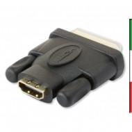 Adattatore HDMI (F) a DVI-D (M)• Connessione da HDMI femmina a DVI-D dual link maschio• Assicura l'integrità del segnale tra le